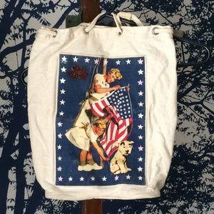 Handbags - Beaded canvas bag